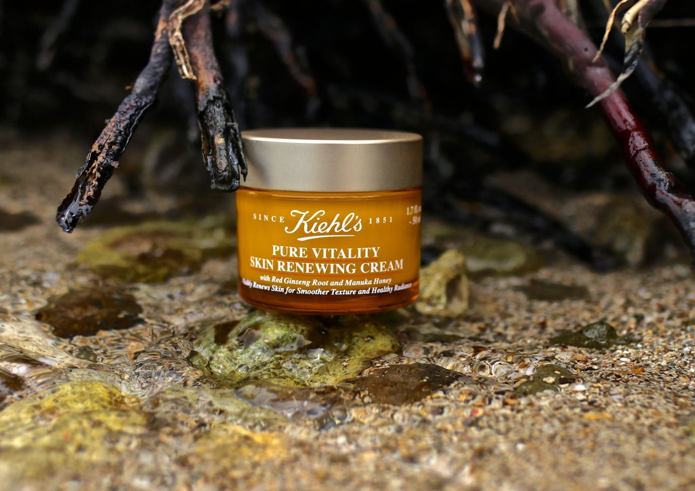Katie Heath, KALANCHOE, Beauty and skincare summer essentials, Kiehl's Pure Vitality Skin renewing Cream