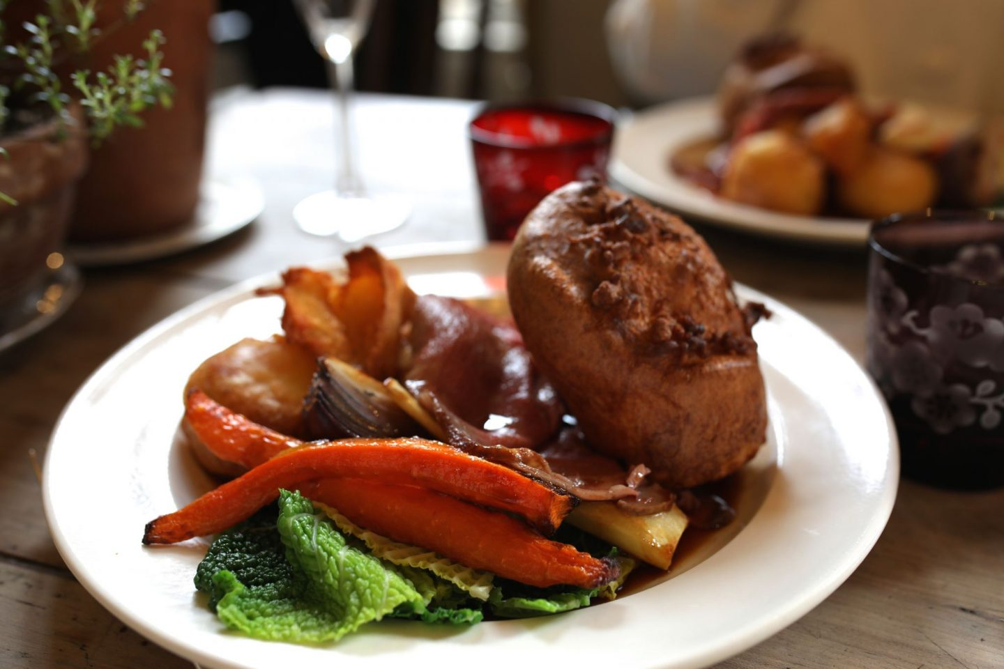 Sunday Lunch at The Pig at Combe, Gittisham, Devon, Katie Heath KALANCHOE,