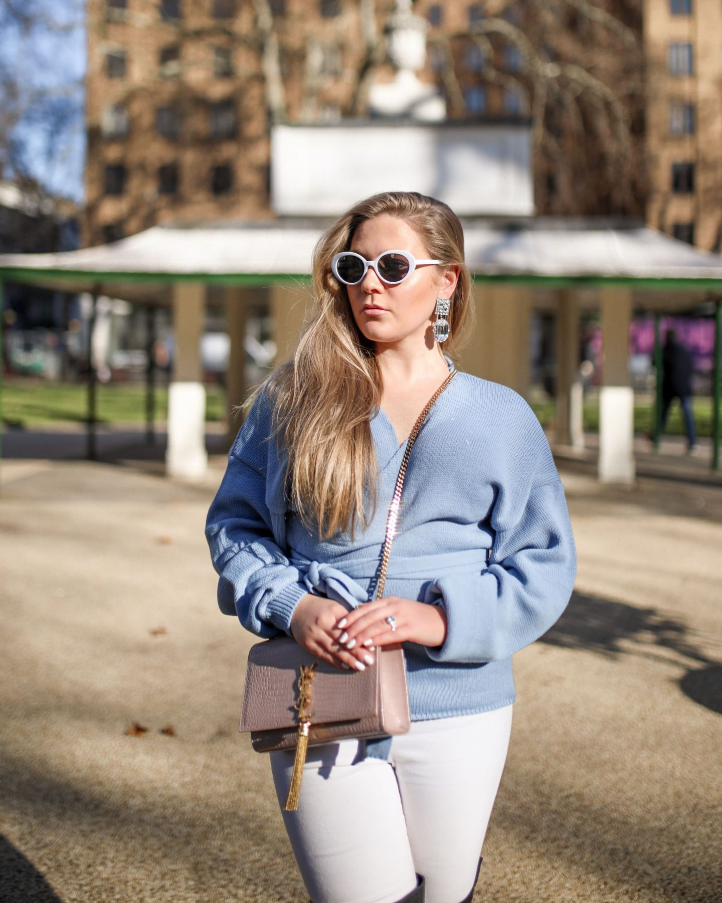 Katie Heath wearing Lorna Luxe X In The Style Collection, KALANCHOE