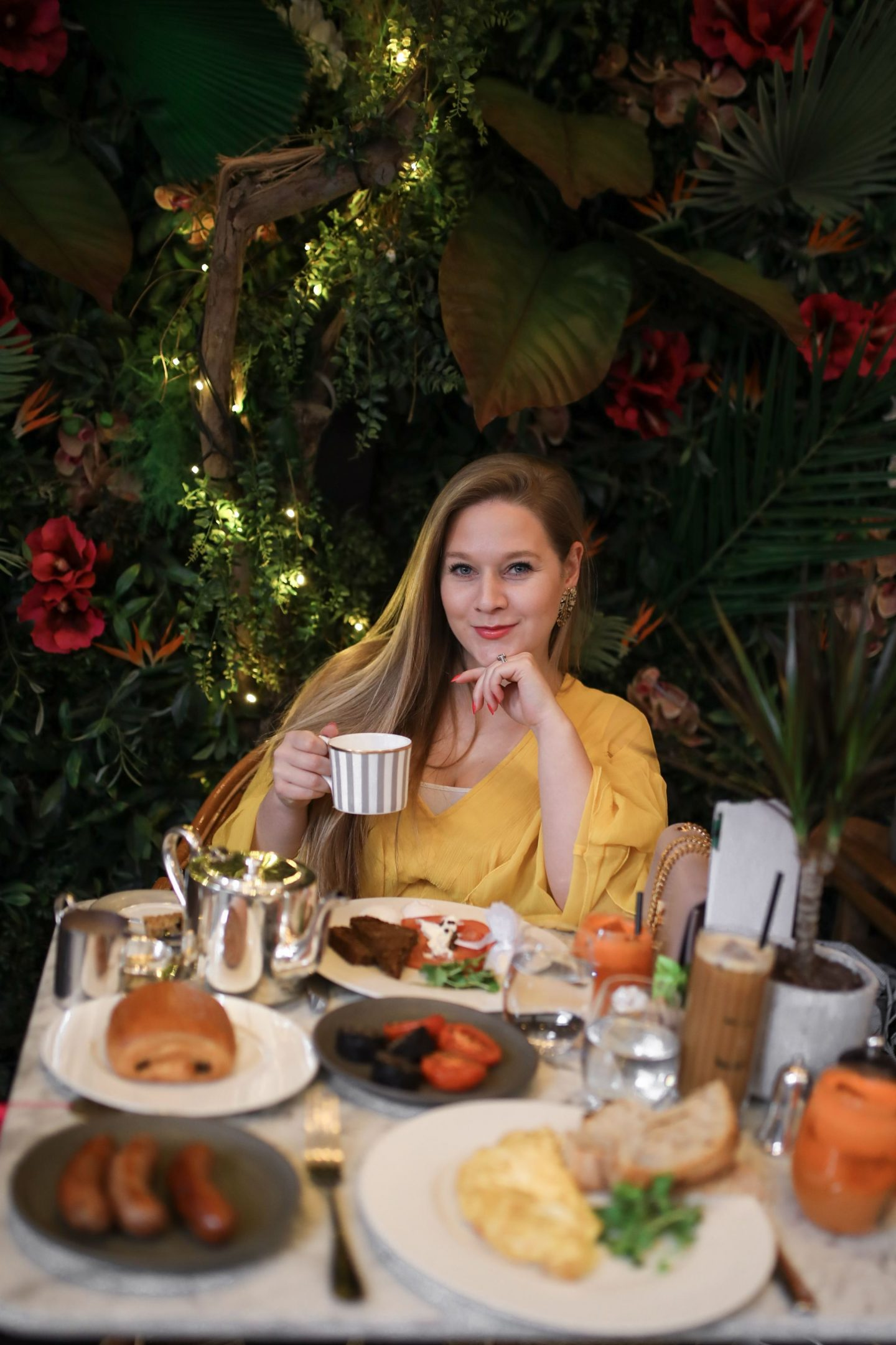 Breakfast at Dalloway Terrace's Spring Jungle