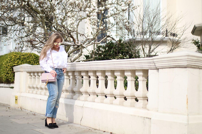 Katie Heath, KALANCHOE, Wearing the YSL Saint Laurent Kate Bag