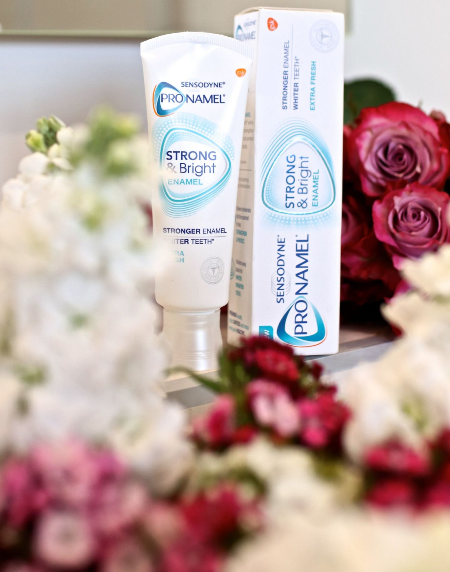 Katie KALANCHOE, Pronamel Strong and Bright Enamel Tooth paste,