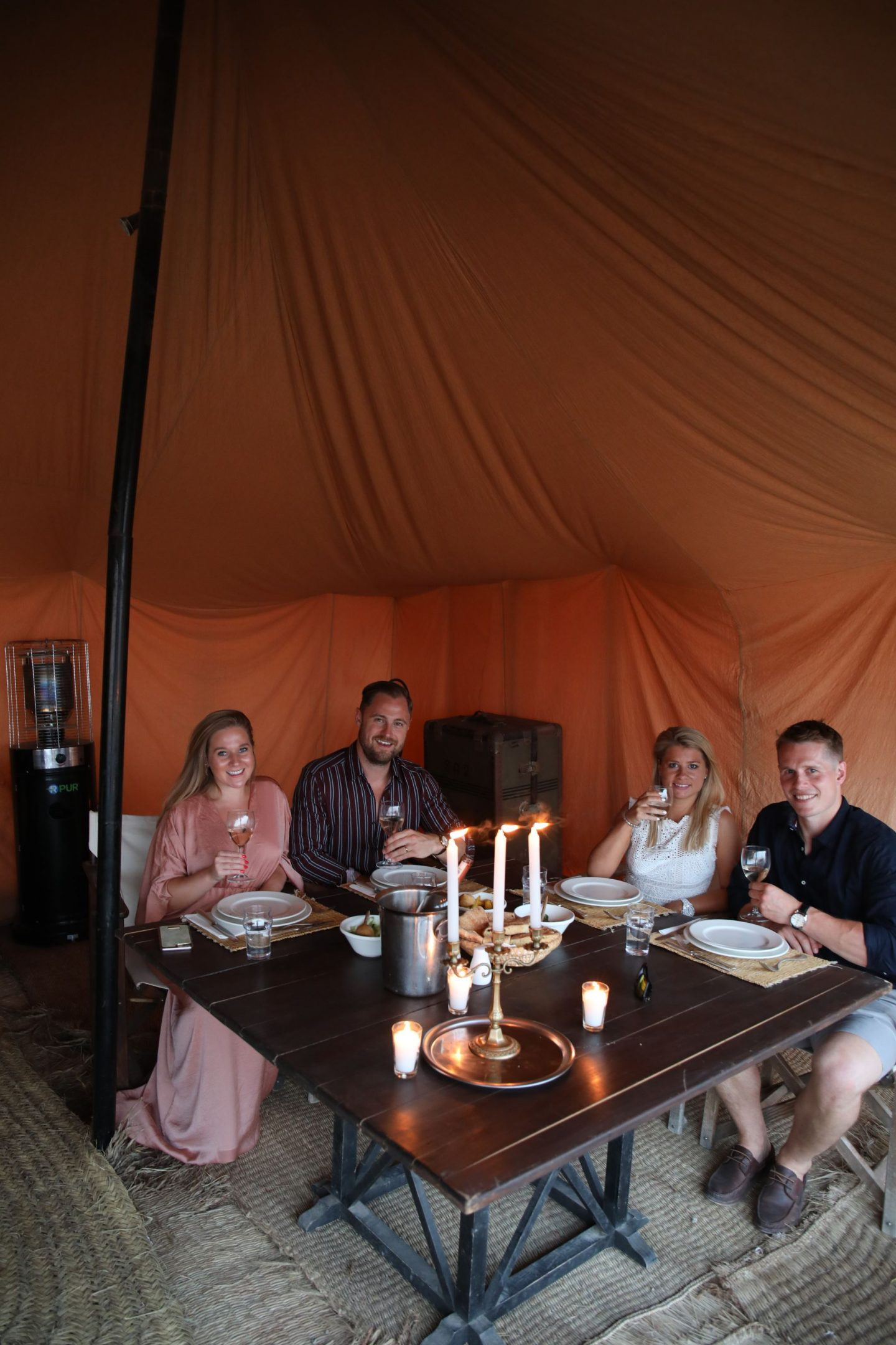 Katie KALANCHOE, Marrakech, Scarabeo Desert Camp, Harriet Martinovic, Katie Heath, Ben heath, Tom Yellowlees