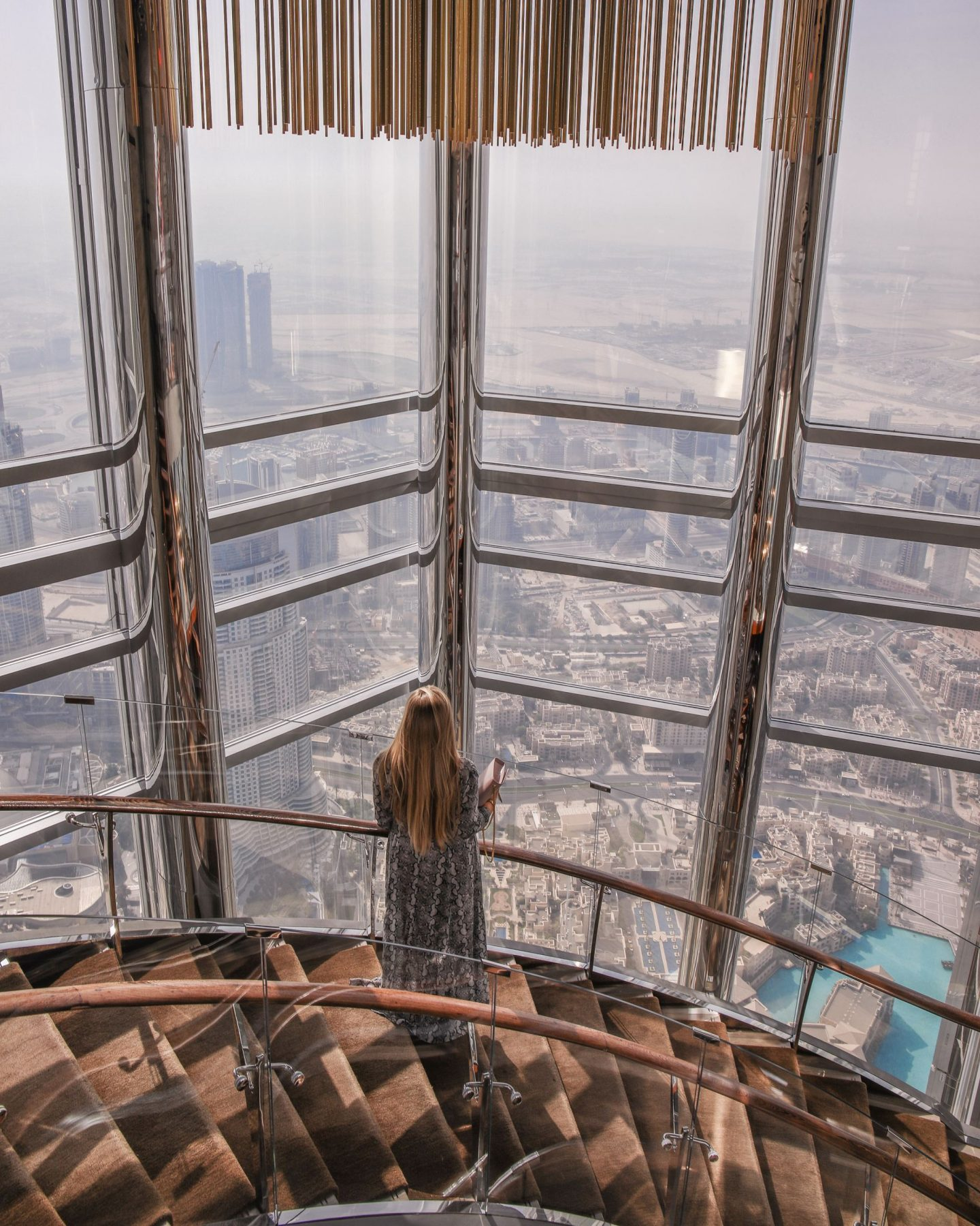 View from the Burj Khalifa, Dubai, Katie KALANCHOE