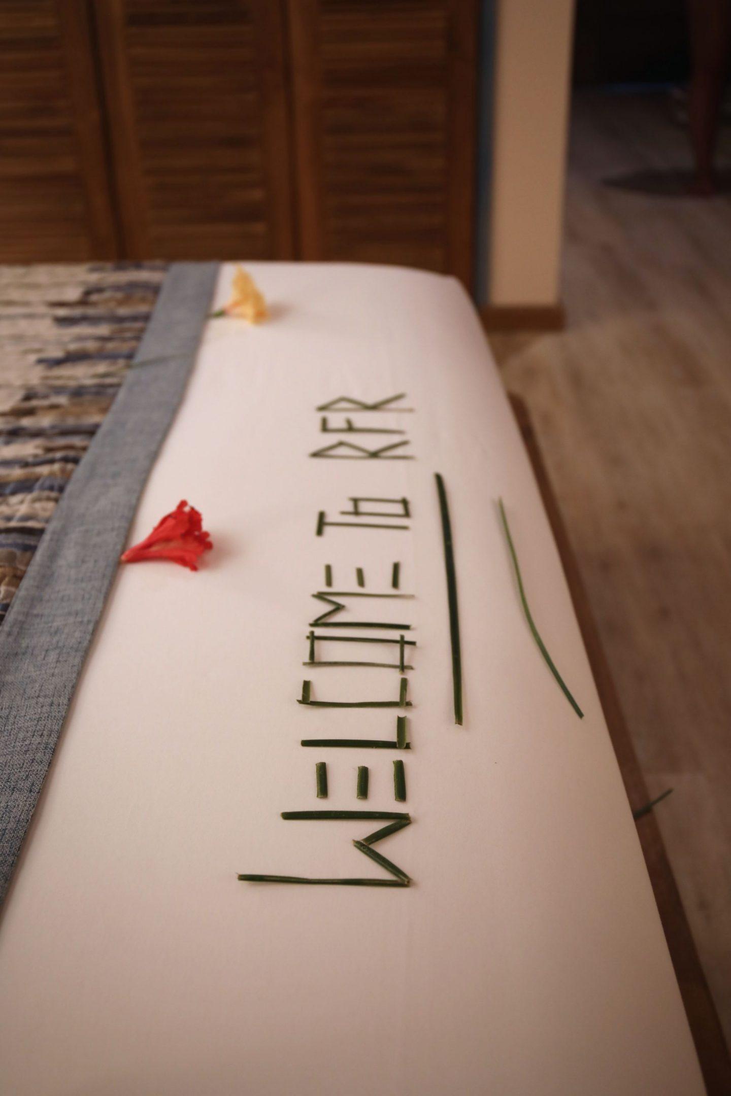 Deluxe Beach Villa room, Reethi Faru Resort, Raa Atoll, The Maldives, Katie KALANCHOE, Katie Heath