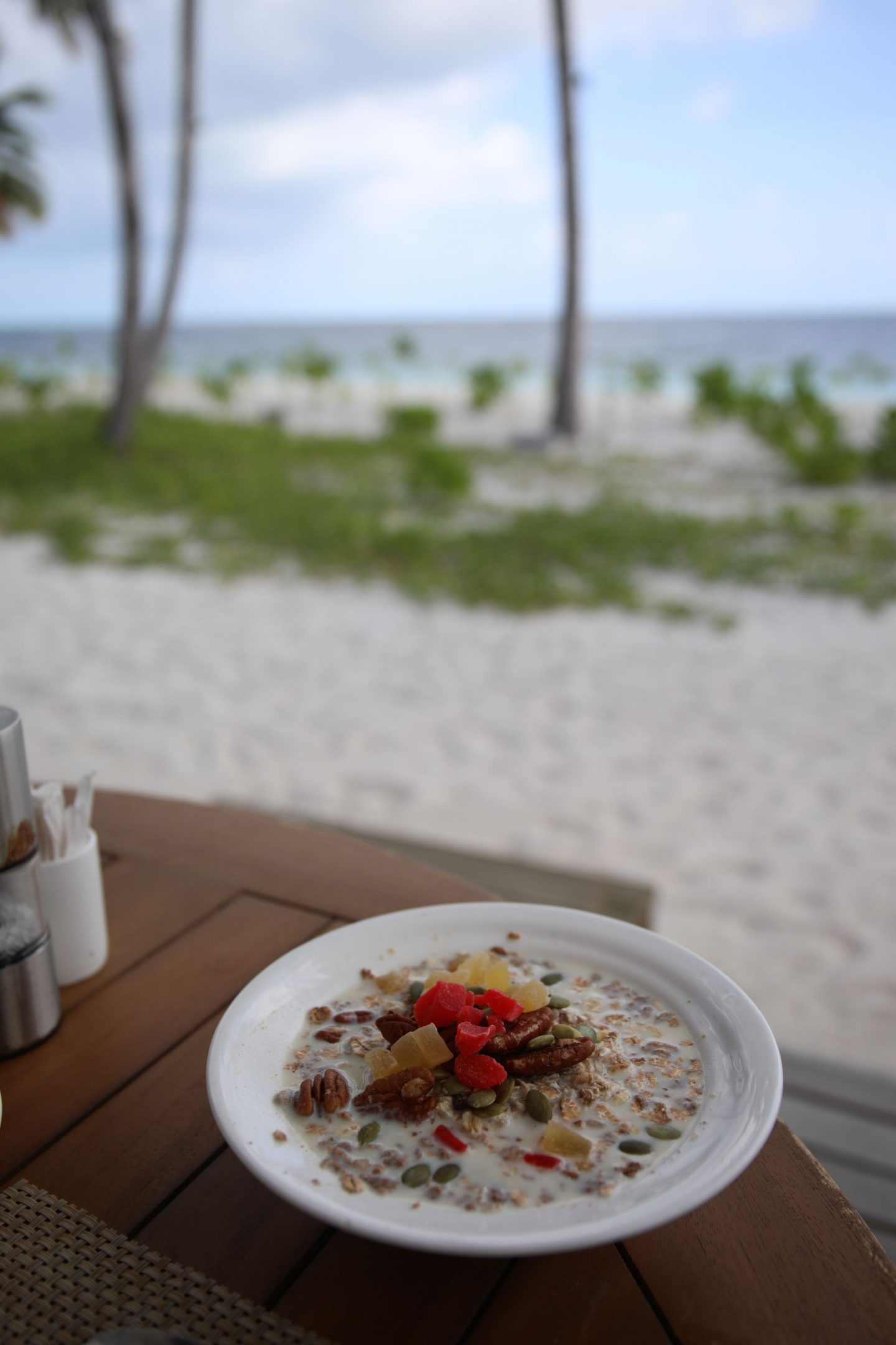 Food at the restaurant, Reethi Faru Resort, Raa Atoll, The Maldives, Katie KALANCHOE, Katie Heath