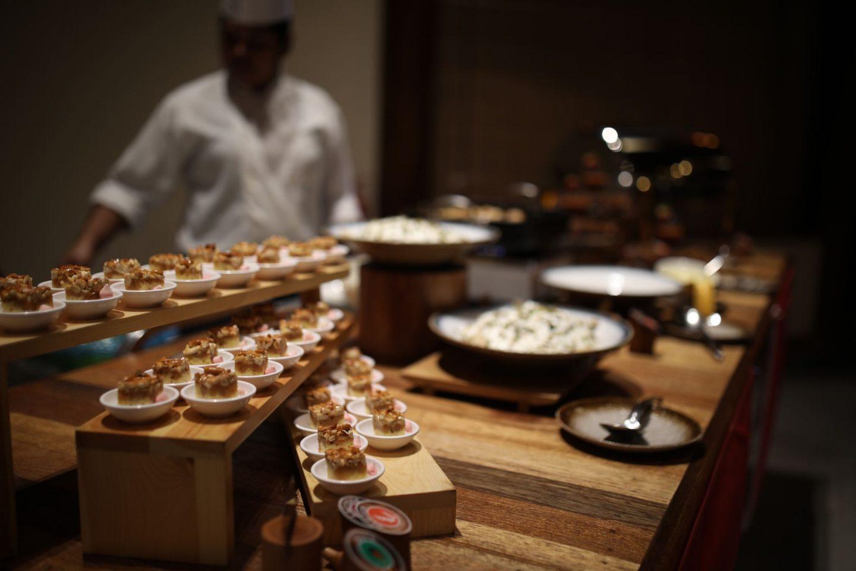 Food at the restaurant, Reethi Faru Resort, Raa Atoll, The Maldives, Katie KALANCHOE, Katie Heath