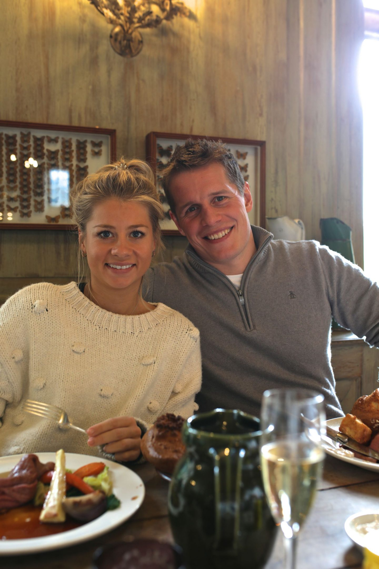 Harriet Martinovic and Tom Yellowlees, Sunday Lunch at The Pig at Combe, Gittisham, Devon, Katie Heath KALANCHOE,