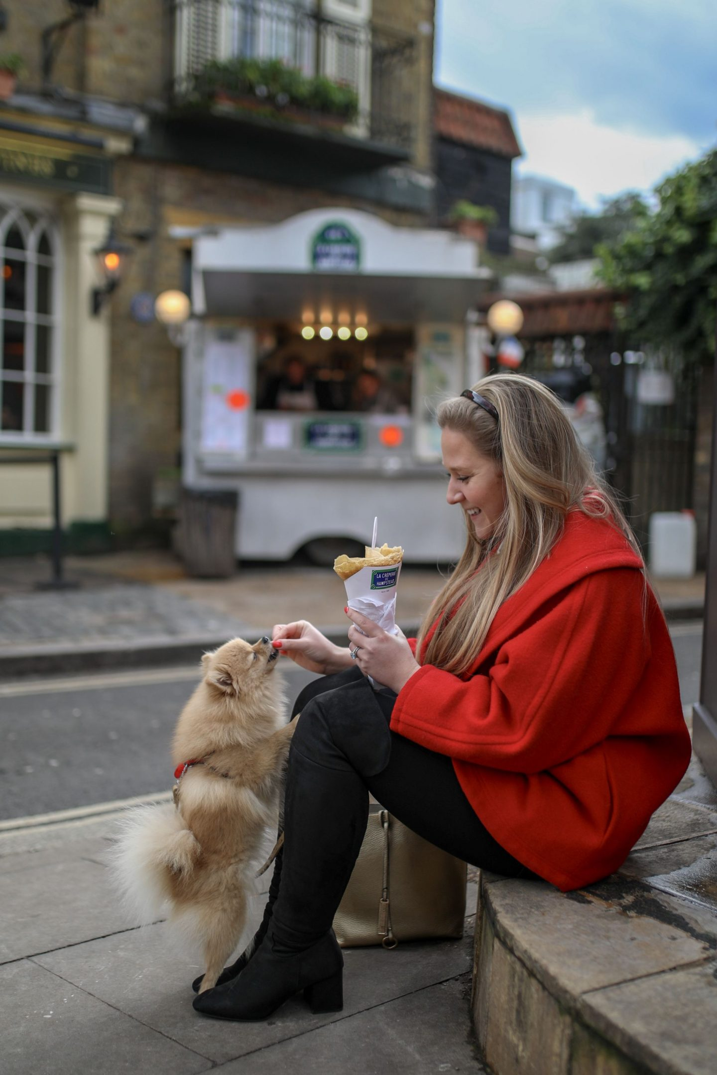 Katie Heath, Kalanchoe at Hampstead Creperie for Pancake day