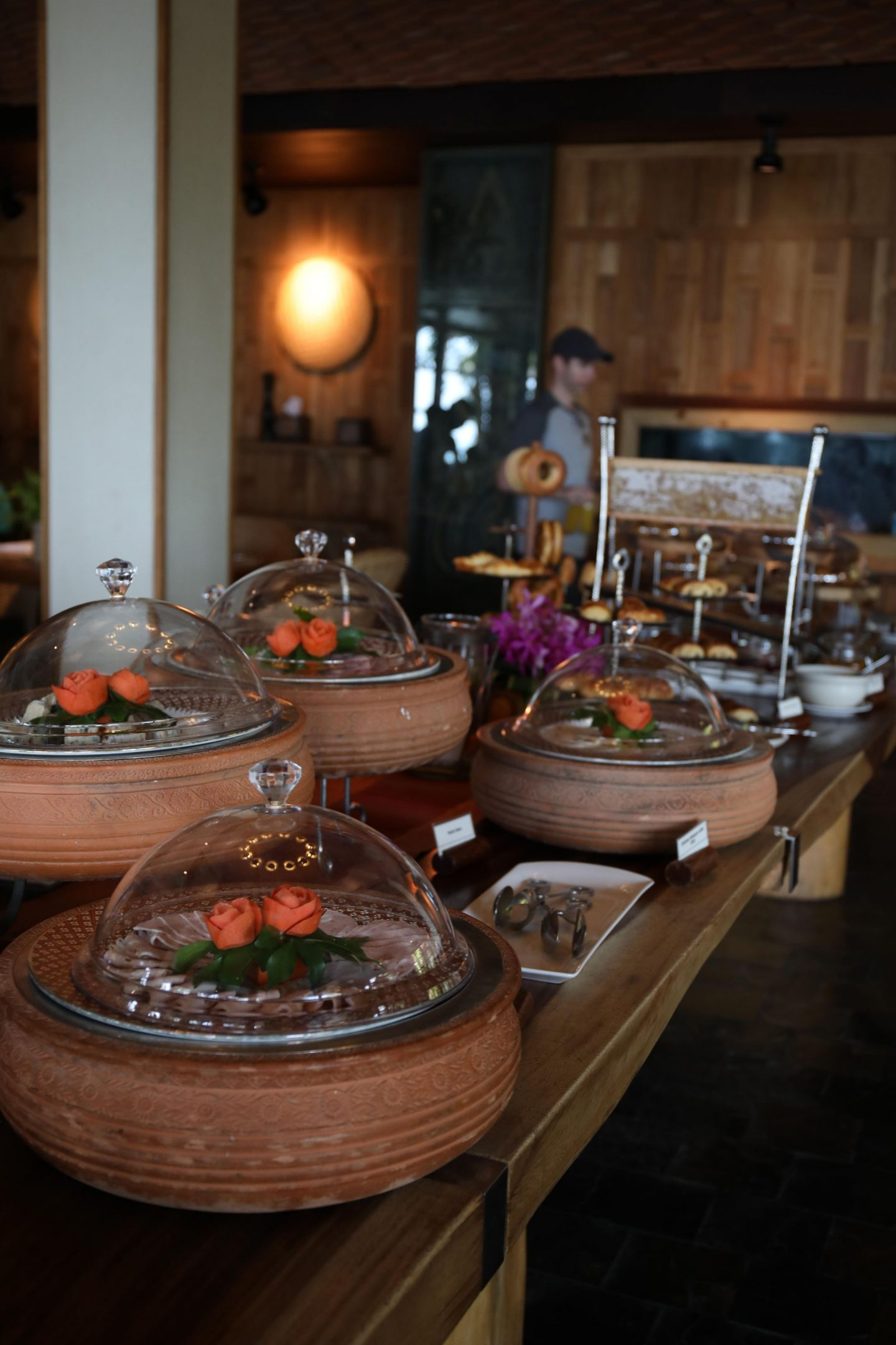 Buffet Breakfast at The Belmond Napasai in Koh Samui Thailand, Katie KALANCHOE