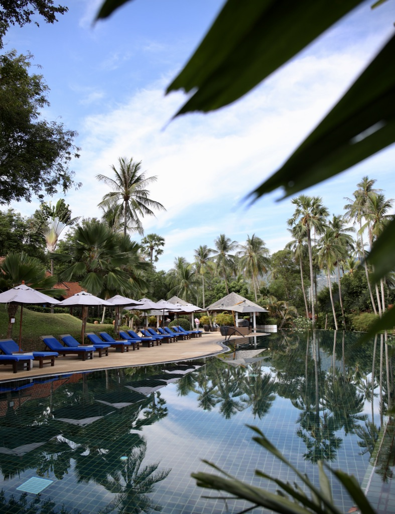 The pool at The Belmond Napasai in Koh Samui Thailand, Katie KALANCHOE