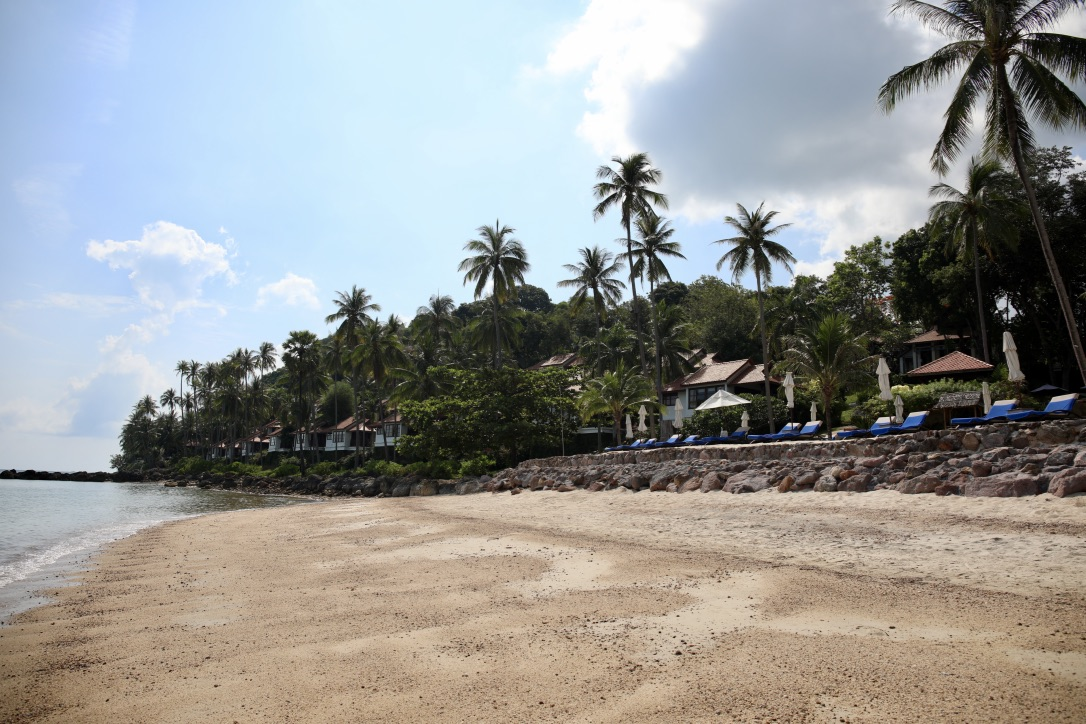 The Beach at The Belmond Napasai in Koh Samui Thailand, Katie KALANCHOE