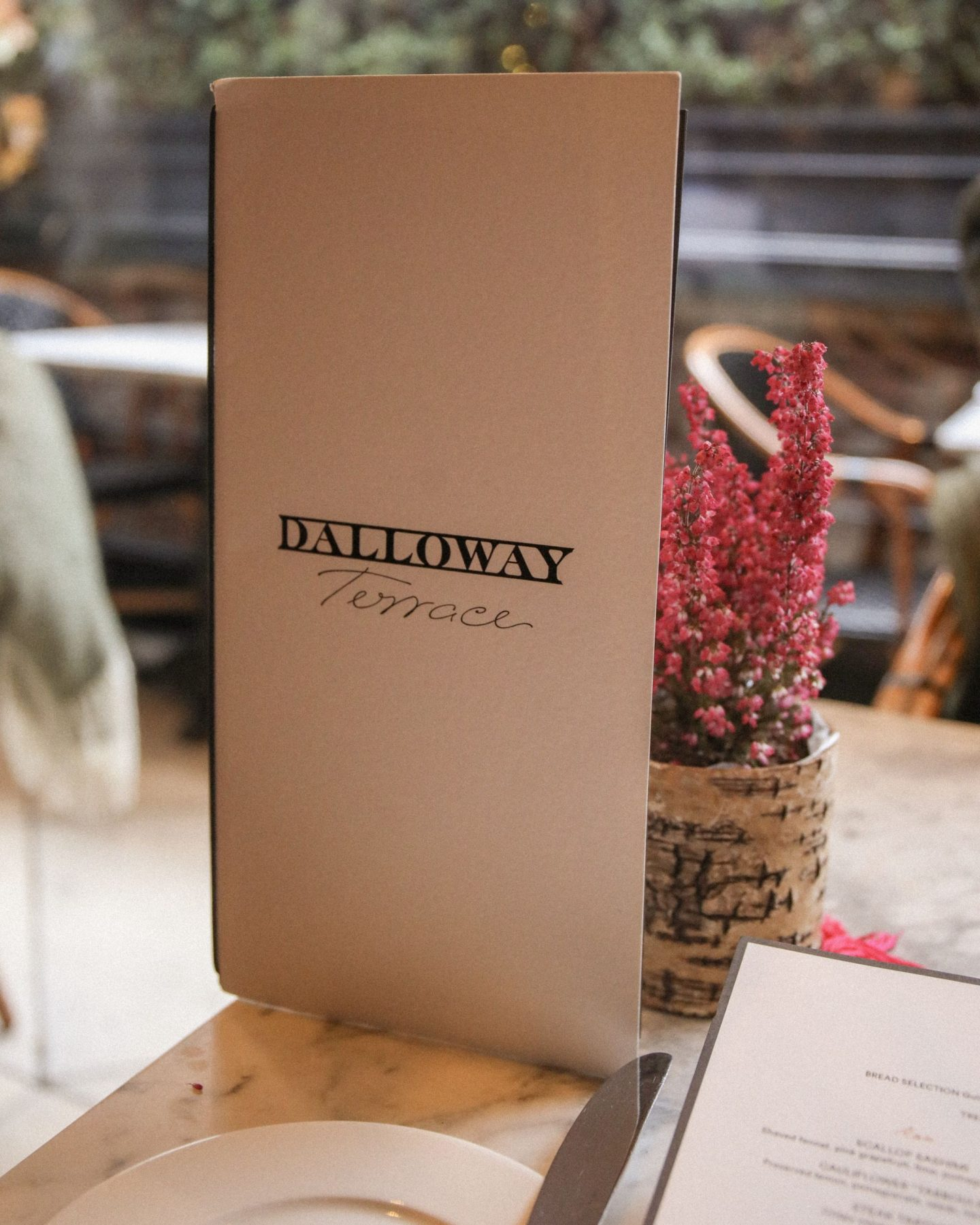 Autumn lunch at Dalloway Terrace, The Bloomsbury Hotel, London, Katie Heath, KALANCHOE