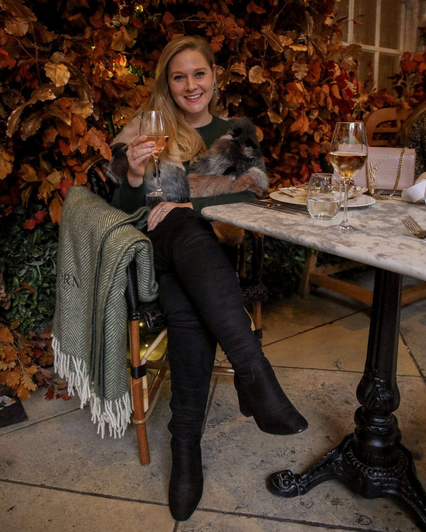 Autumn lunch at London's cosiest spot, Dalloway Terrace