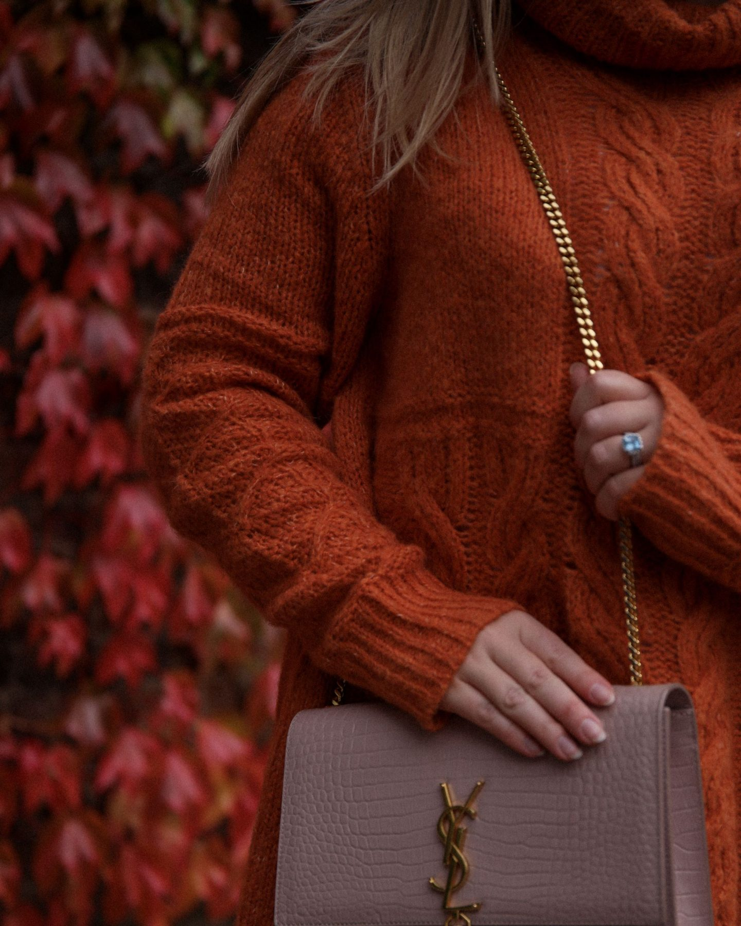 Katie Heath wearing Orange Odd Molly Mohair Knit, Katie KALANCHOE