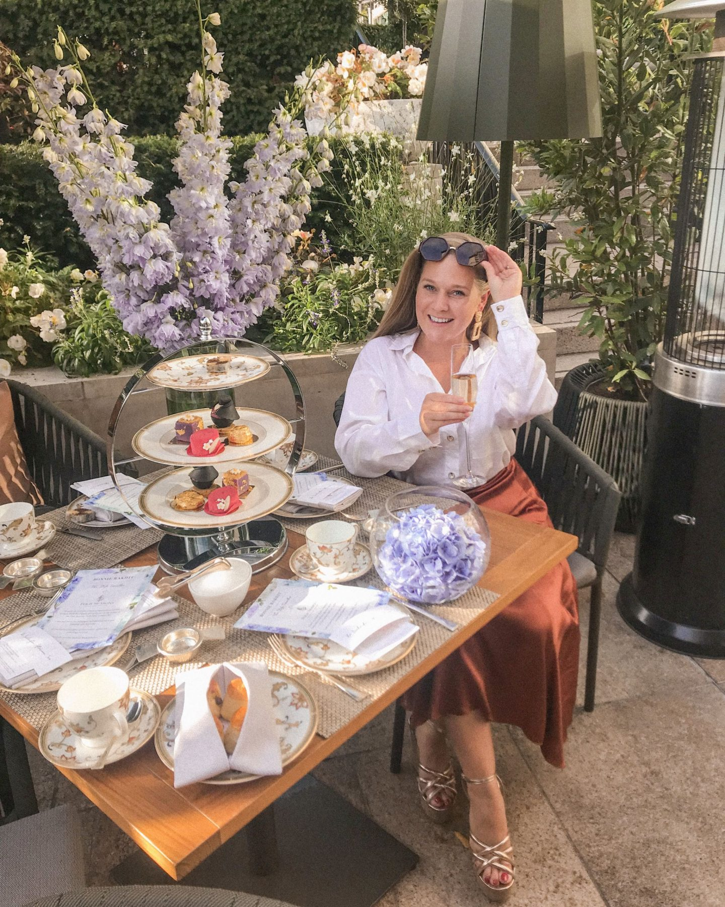 Four Seasons X Bonnie Rakhit London Fashion Week Afternoon Tea, Katie Heath KALANCHOE