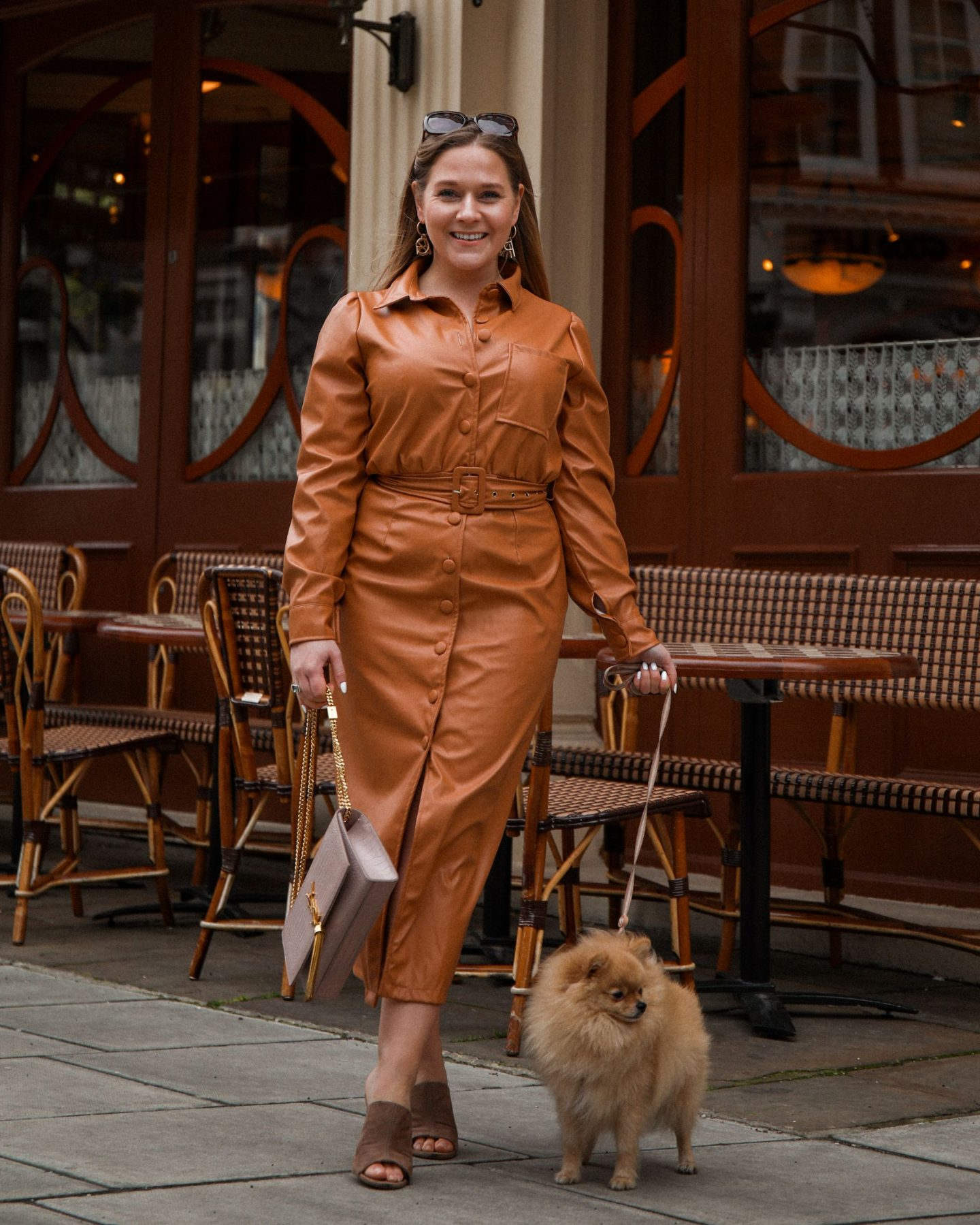 Lorna Luxe for In The Style Leather Dress, Katie Heath, Kalanchoe