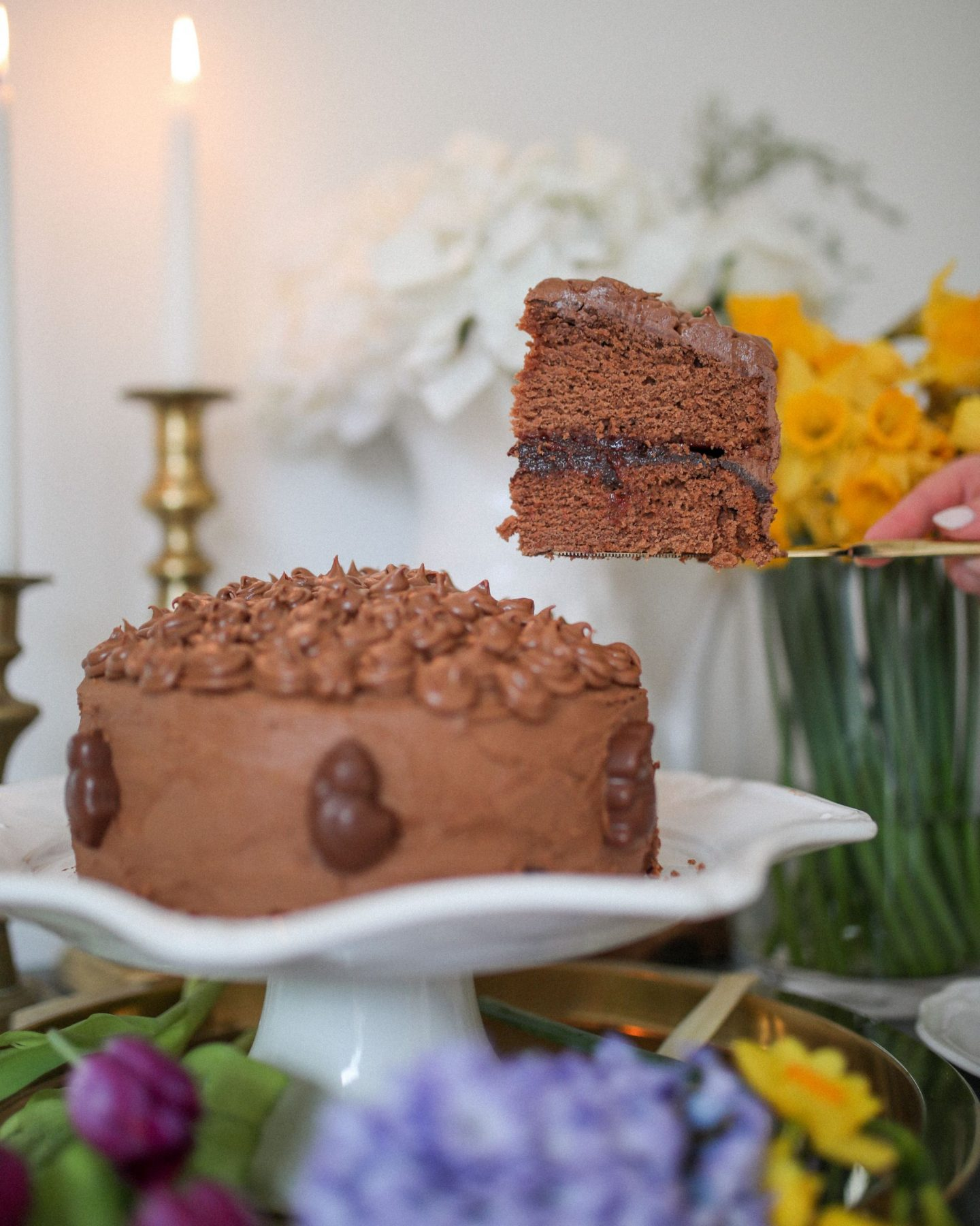 Vegan Chocolate Ganache Iced Cake, Katie Heath, KALANCHOE