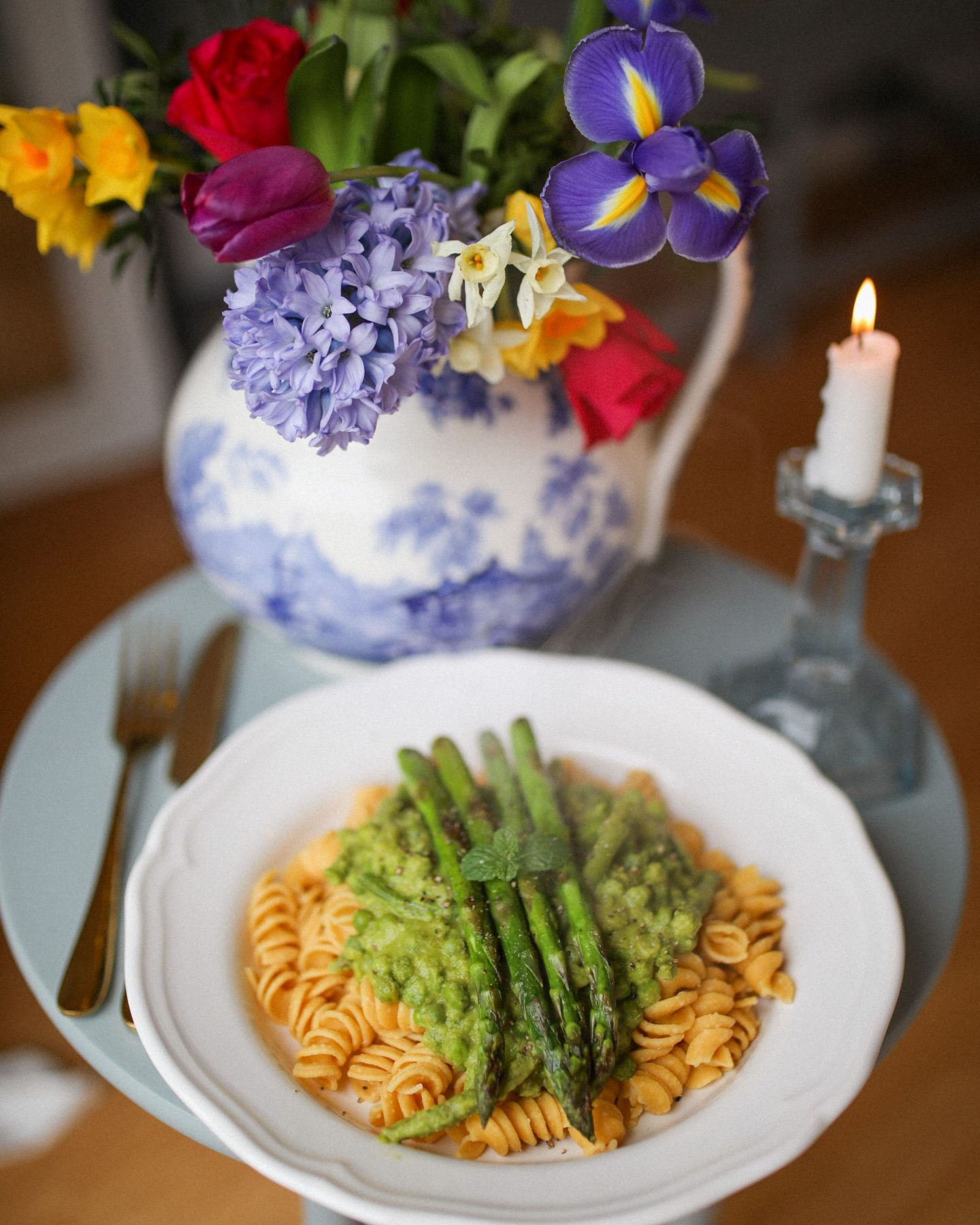 Vegan Ugo Pasta with Mint and Asparagus, Katie Heath, KALANCHOE
