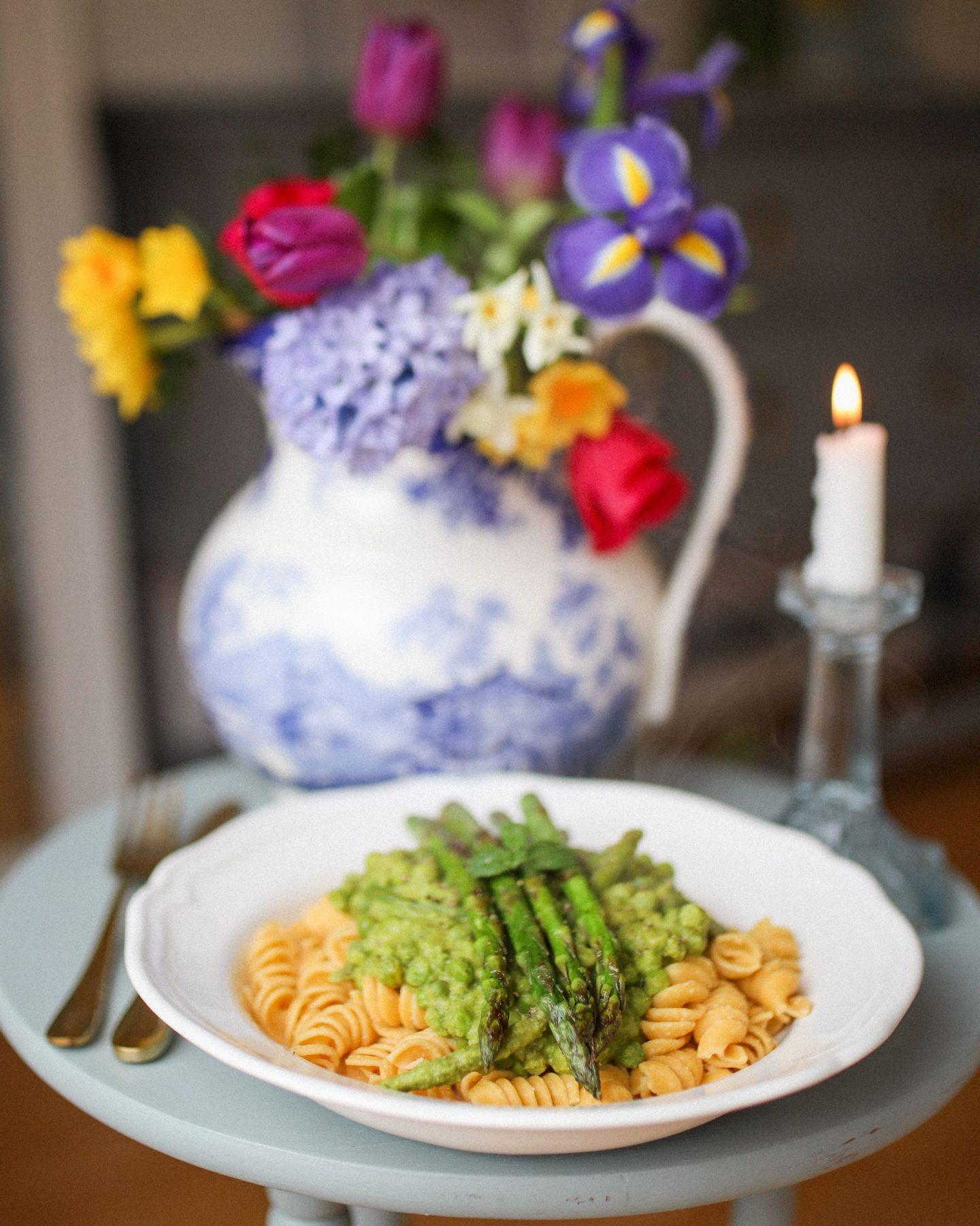 Vegan Ugo Pasta with Mint and Asparagus, Katie Heath, KALANCHOE