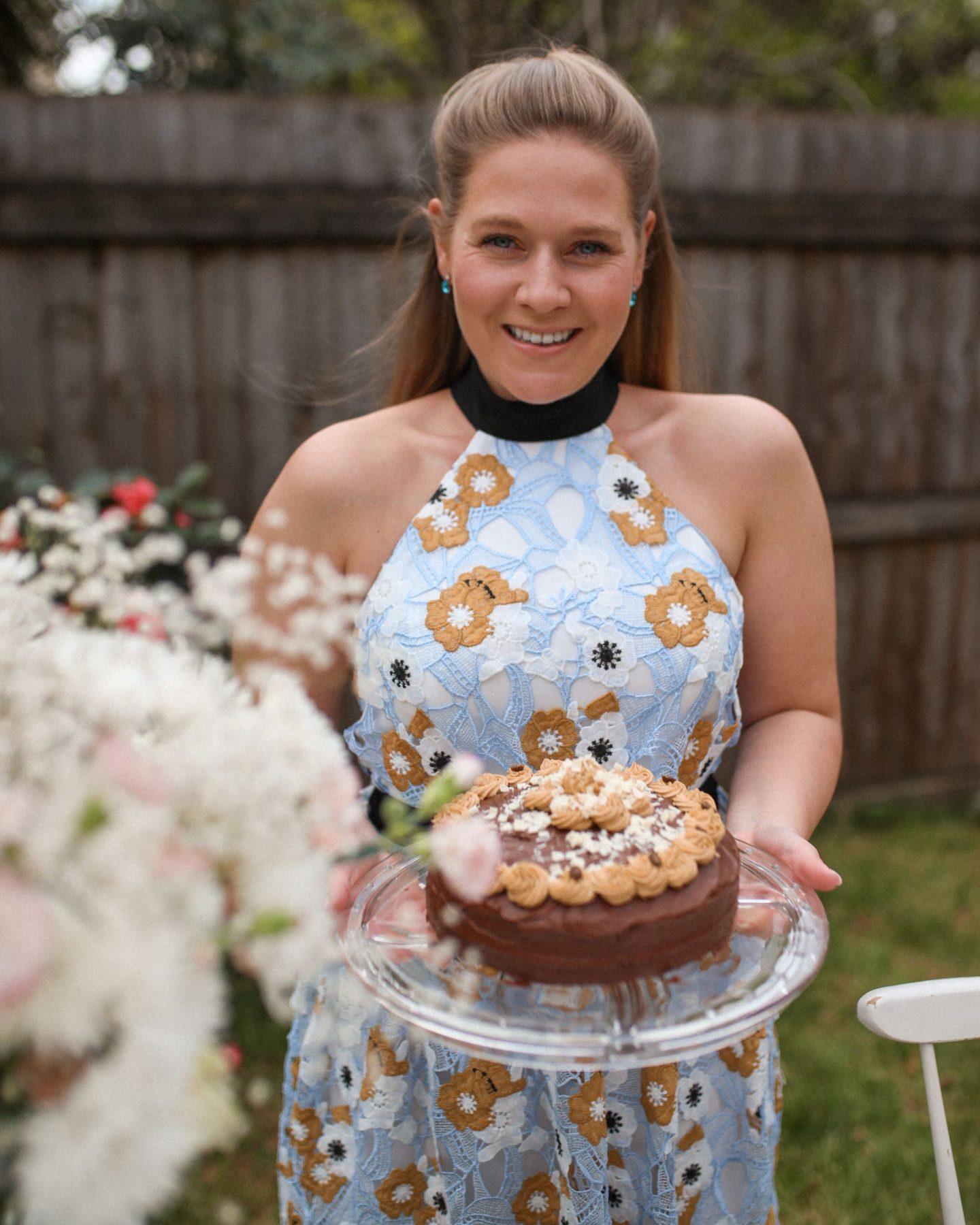 Coffee Cake and Tea in the Garden, Katie Heath, KALANCHOE