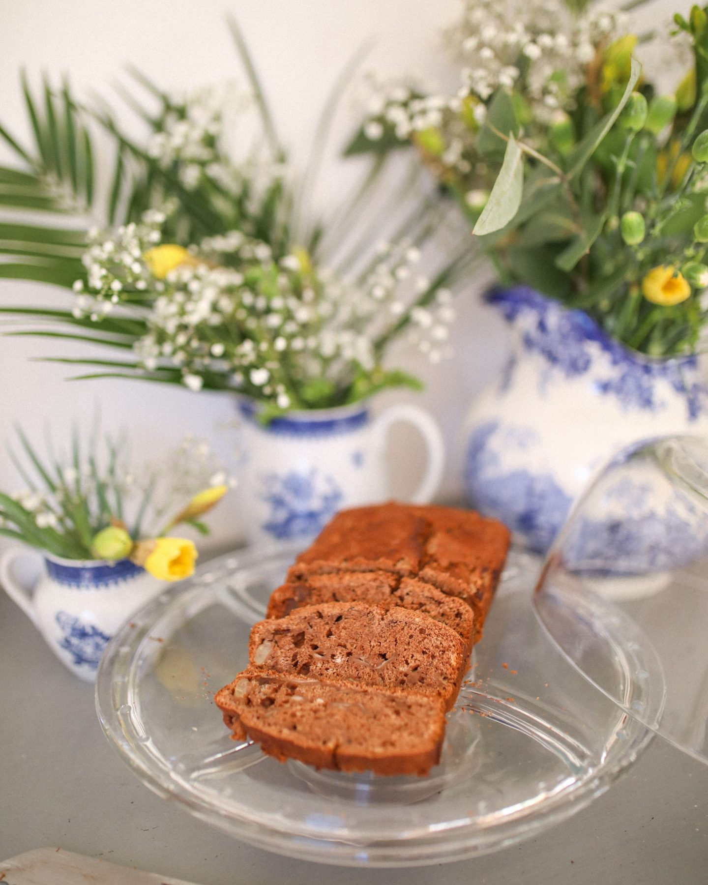 Vegan Pear and Chocolate Loaf Cake, Katie Heath, Kalanchoe