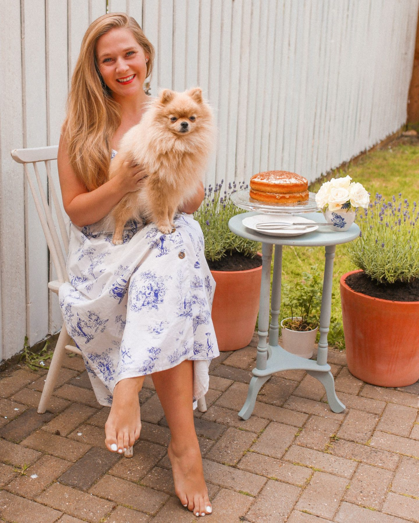 Banana cake, Pepi The Pom and Katie KALANCHOE