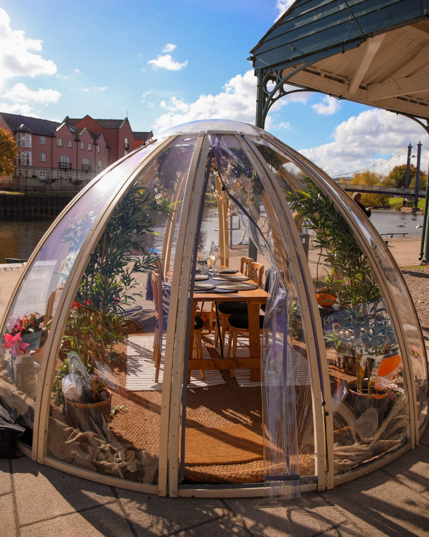 Mango's and On The Waterfront Dining Pod, The Quay, Exeter, Devon, Katie Heath KALANCHOE
