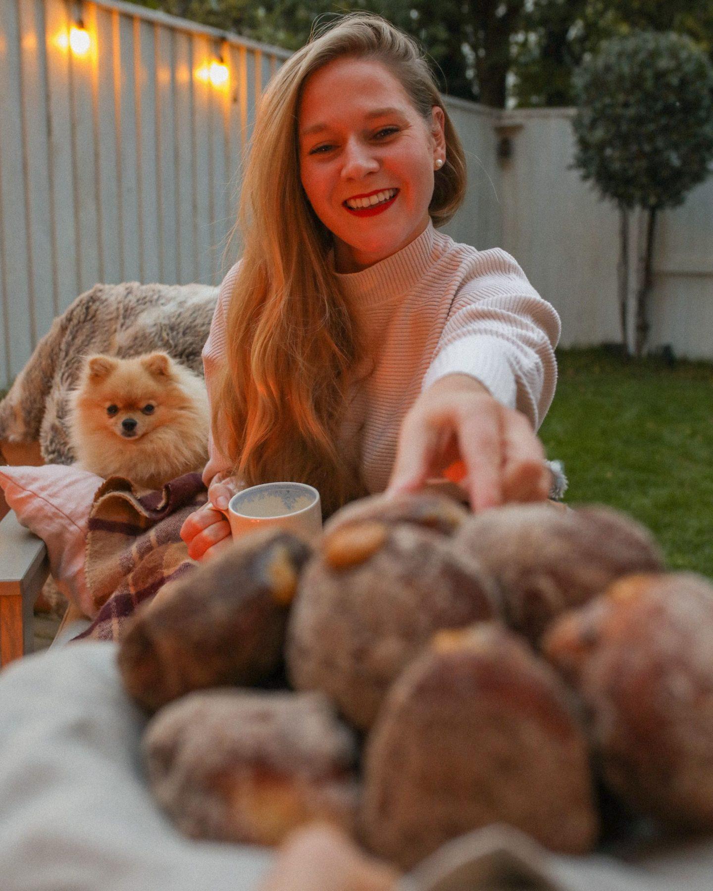Toffee Apple doughnuts with cinnamon sugar, Katie Heath, KALANCHOE