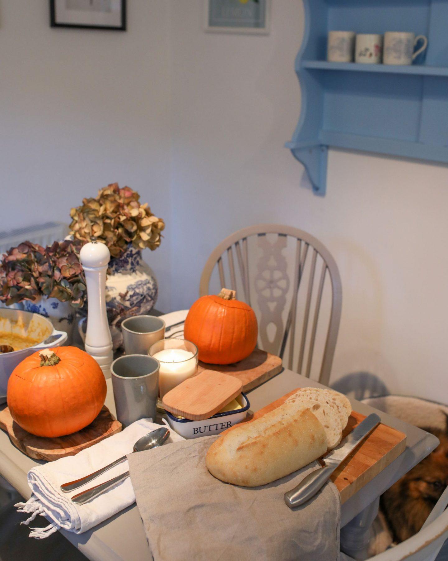 Parsnip, Sage and Pumpkin soup served in a pumpkin, Katie Heath, KALANCHOE