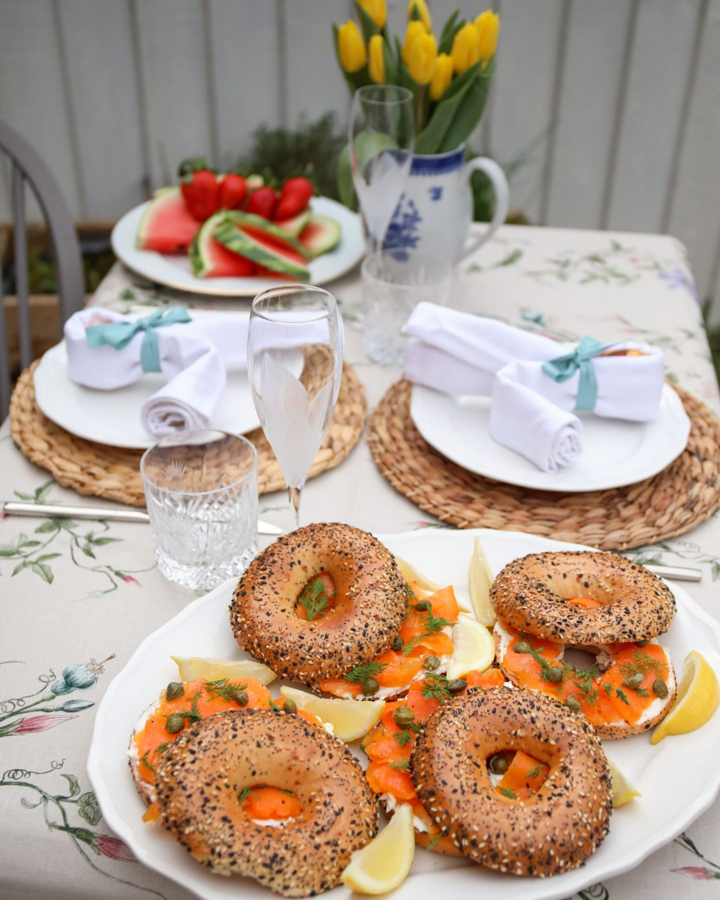 Vegan 'smoked salmon' Carrot and cream cheese bagels, Katie Heath KALANCHOE
