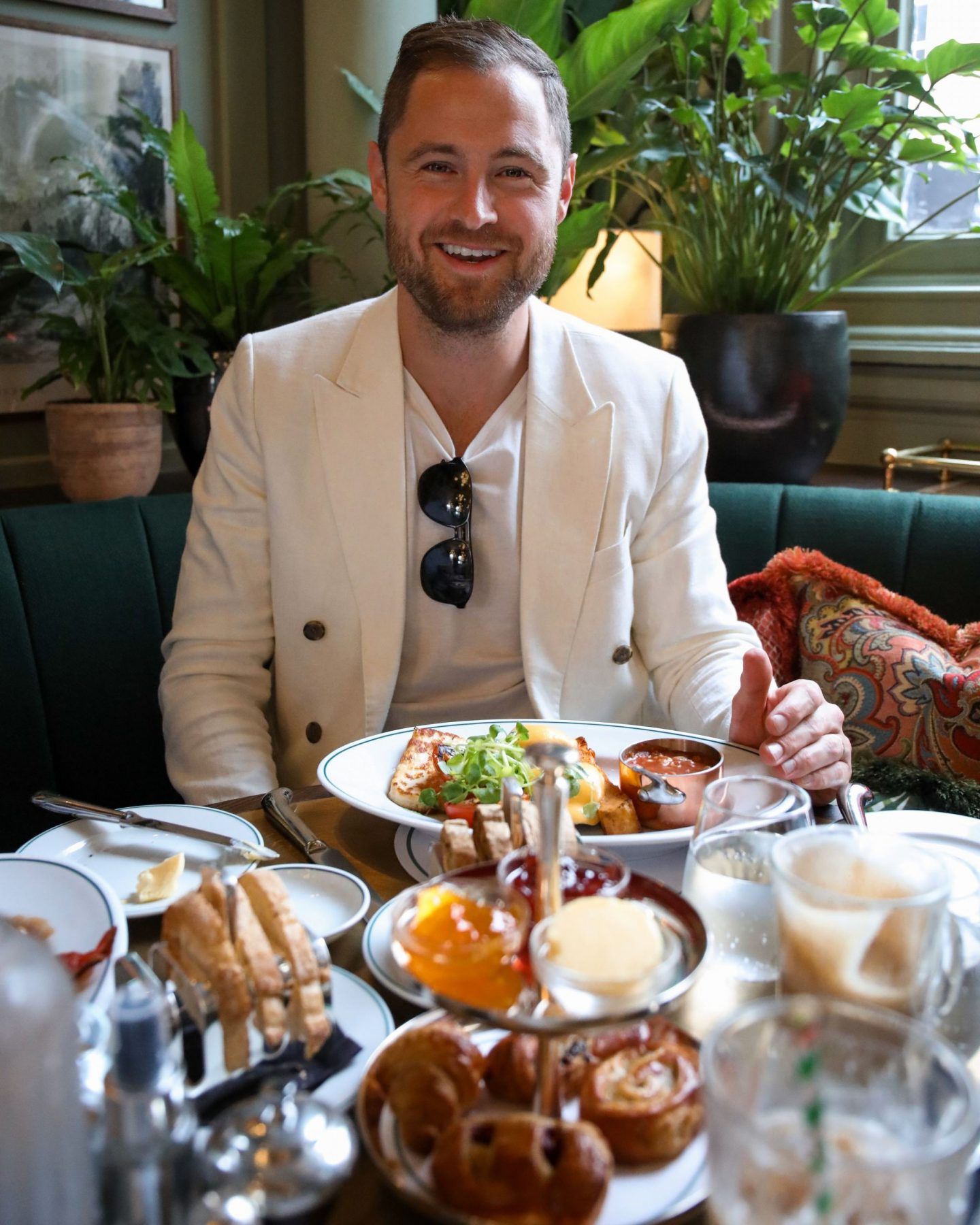 Ben Heath at The Ivy on the Cathedral Green in Exeter, Devon, Katie KALANCHOE