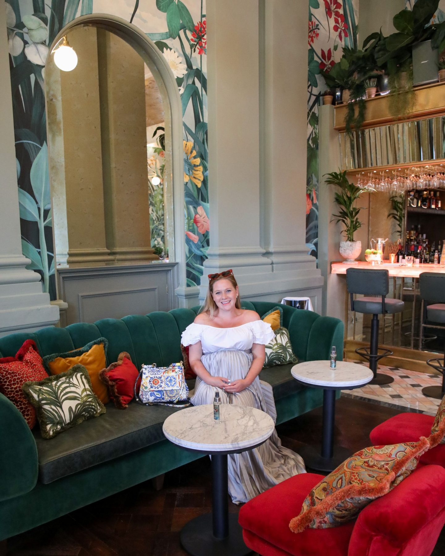 Katie Heath at The Ivy on the Cathedral Green in Exeter, Devon, Katie KALANCHOE